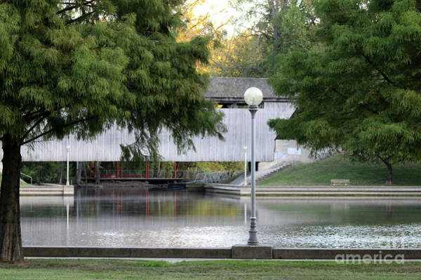 Millrace Wall Art - Photograph - An Old Covered Bridge - Columbus Indiana by Scott D Van Osdol