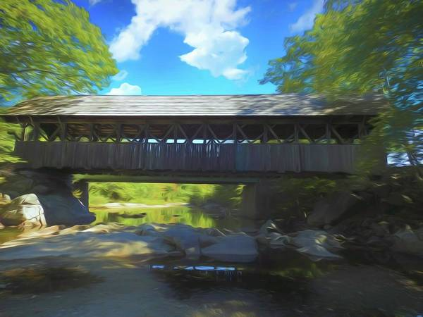 Photograph - An Old Covered Bridge In Western Maine. Time Is Leaving This Old by Rusty R Smith