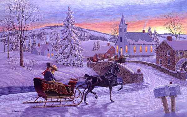 Bells Painting - An Old Fashioned Christmas by Richard De Wolfe