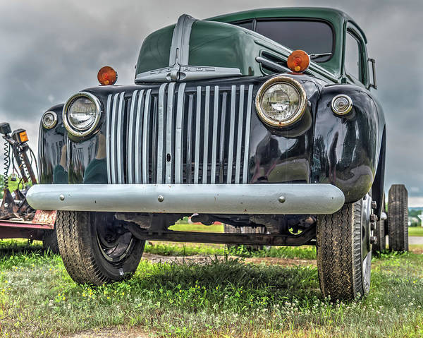 Photograph - An Old Green Ford Truck by Guy Whiteley