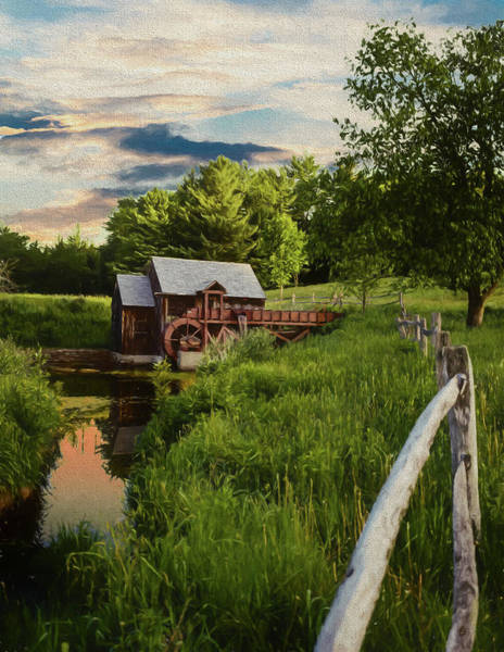 Photograph - An Old Gristmill by Rusty R Smith