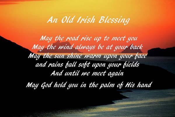 Photograph - An Old Irish Blessing #1 by Aidan Moran