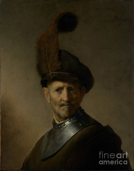 Dali Painting - An Old Man In Military Costume By Rembrandt Harmensz. Van Rijn  by Esoterica Art Agency