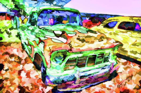 Custom Truck Painting - An Old Pickup Truck 1 by Jeelan Clark