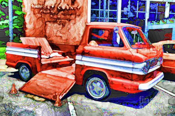 Custom Truck Painting - An Old Pickup Truck 2 by Jeelan Clark