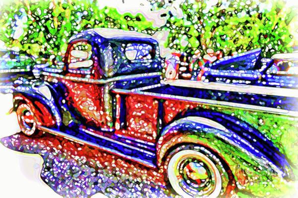 Custom Truck Painting - An Old Pickup Truck 3 by Jeelan Clark