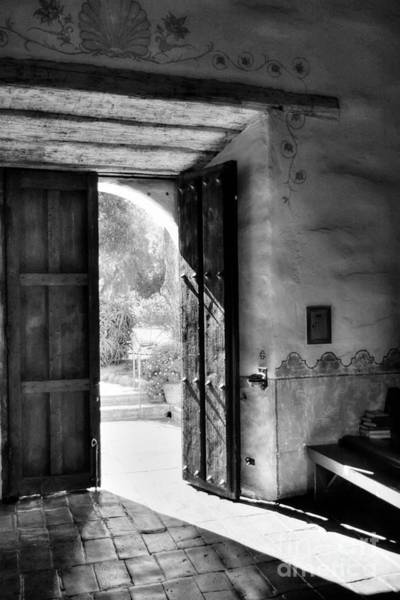 Photograph - An Open Door Policy Bw by Mel Steinhauer
