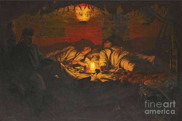 Opium Den Painting - An Opium Den At Lime Street by MotionAge Designs