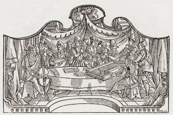 Wall Art - Drawing - An Orchestra From The Tudor Period by Vintage Design Pics