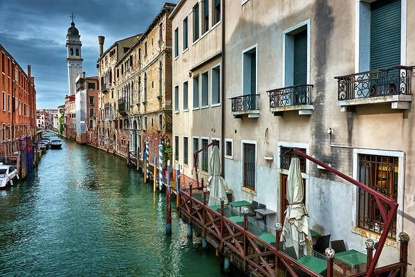 Photograph - Facades Of Buildings And Tower In Venice, Italy by Fine Art Photography Prints By Eduardo Accorinti