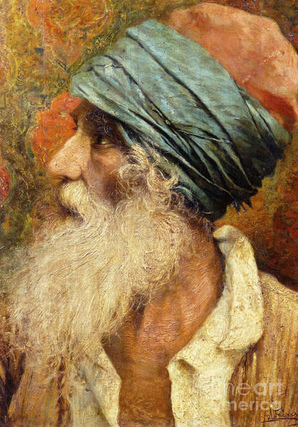 Wise Man Wall Art - Painting - An Oriental by Antonio Maria Fabres y Costa