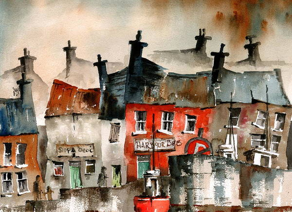 Painting - An Siopa Deoc, Portmagee, Kerry by Val Byrne