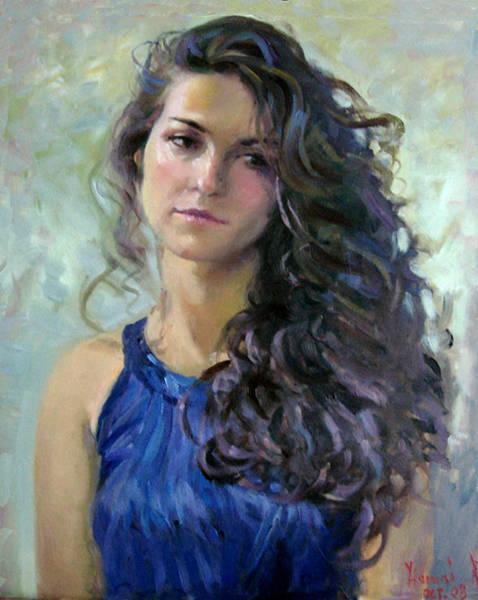 Fine Painting - Ana by Ylli Haruni
