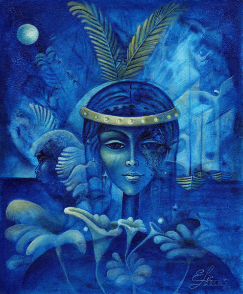 Haiti Painting - Anacaona by Elie Lescot