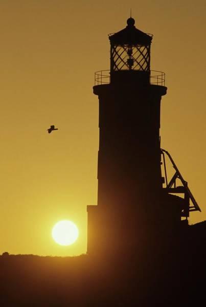 Anacapa Lighthouse And Sunrise Art Print