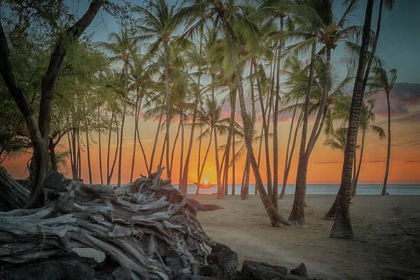 Anaehoomalu Beach Sunset Art Print