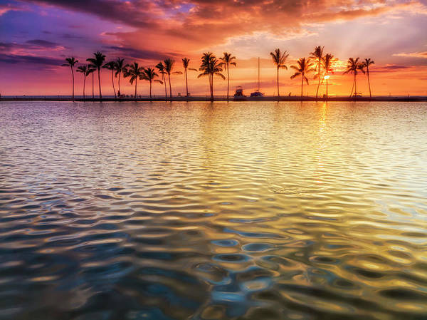 Photograph - Anaehoomalu Sunset by Christopher Johnson