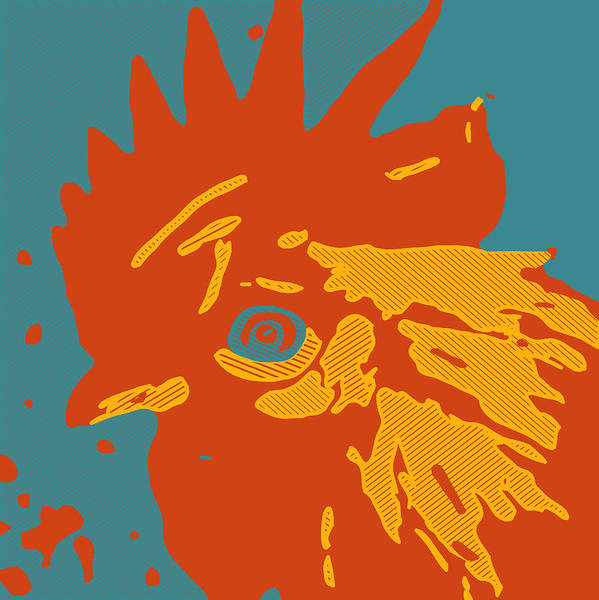 Painting - Analog Rooster Rocks by Neal Barbosa