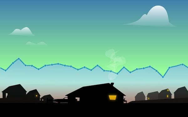 Valley Digital Art - Analytics Valley by Nestor PS