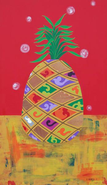 Wall Art - Painting - Ananas by Pablo Ontaneda