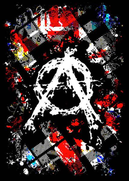 Punk Rock Digital Art - Anarchy Punk by Roseanne Jones