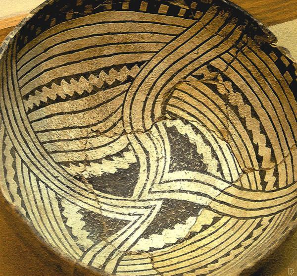 Pueblo Painting - Anasazi Pot by David Lee Thompson