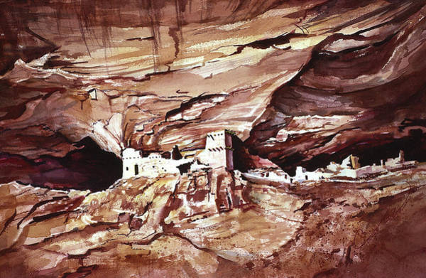 Painting - Anassasi Wall Ruins by Connie Williams