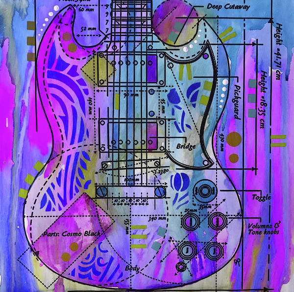Wall Art - Painting - Anatomy Of An Sg by Dean Russo Art