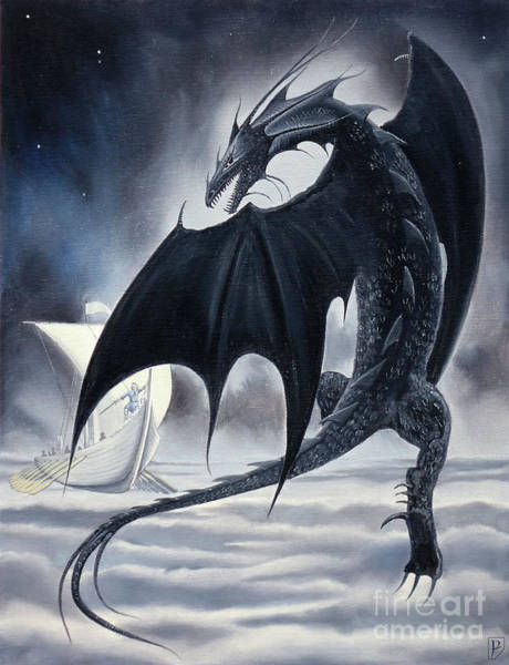 Smaug Painting - Ancalagon The Black by Gordon Palmer