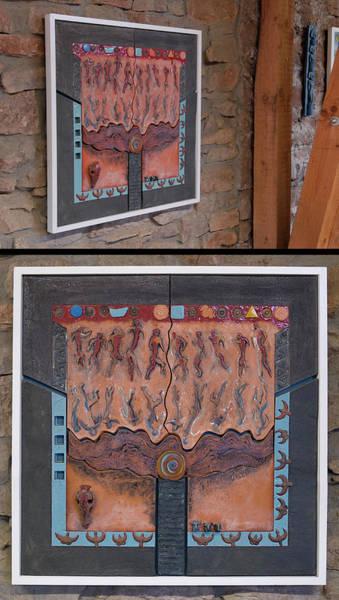 Relief - Ancestral Chart- Hunter Gatherers - Jakt Og Sanking - Jaegara Samlare - Sammler Jaeger by Urft Valley Art