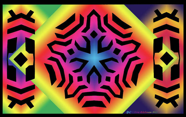 African Tribal Digital Art - Ancestral Star by Eric Edelman