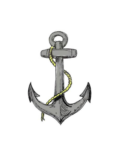 Digital Art - Anchor by Charles Quiles