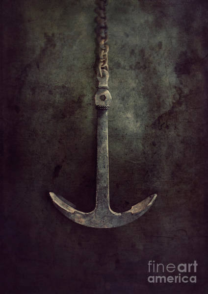 Rusty Chain Wall Art - Photograph - Anchor by Mythja Photography
