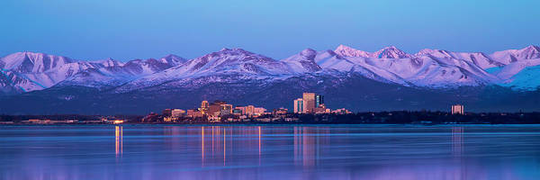 Wall Art - Photograph - Anchorage Lights by Ed Boudreau