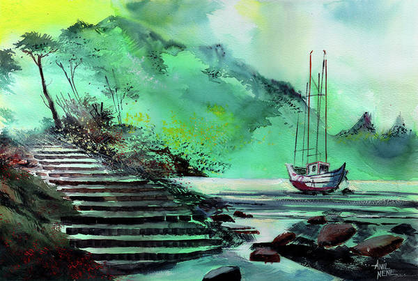 Painting - Anchored by Anil Nene