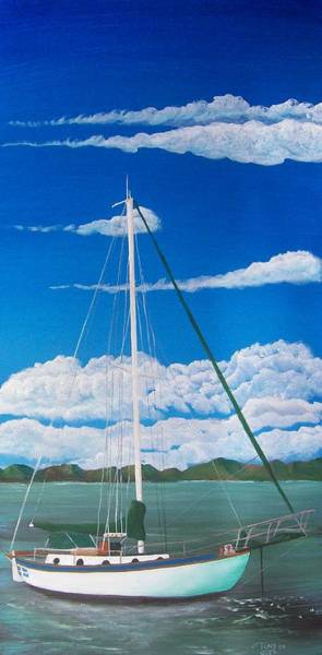 Painting - Anchored by Tony Rodriguez