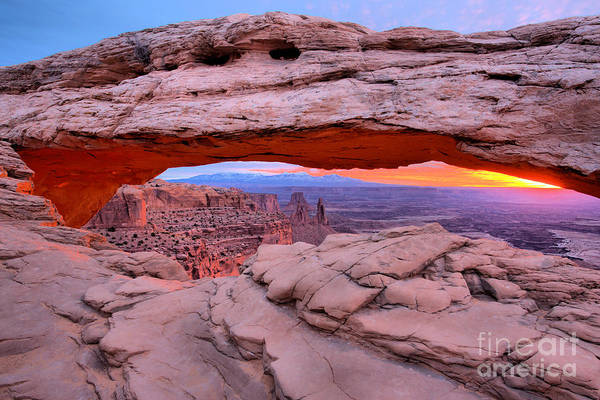 Photograph - Ancient Arch Sunrise by Adam Jewell