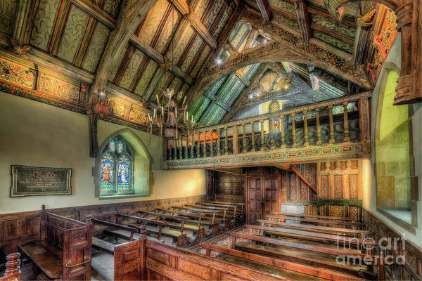Wall Art - Photograph - Ancient Chapel Interior by Adrian Evans