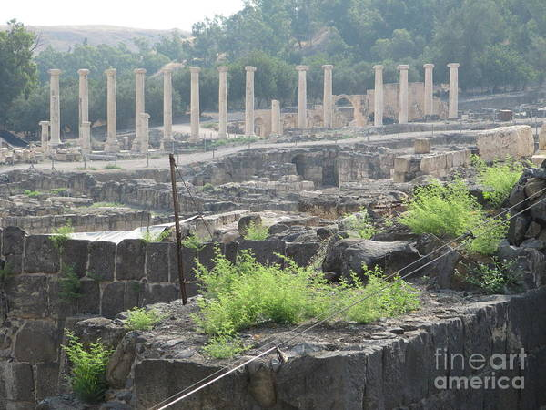 Photograph - Bet Shean Ancient City Center by Donna L Munro