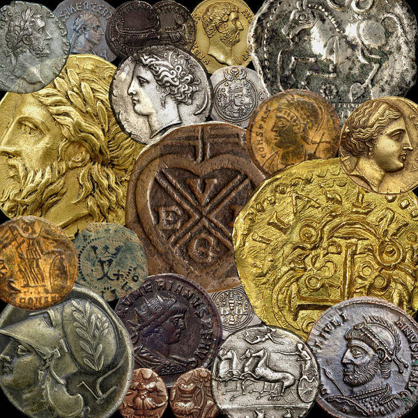 Photograph - Ancient Coins 4 by Andrew Fare