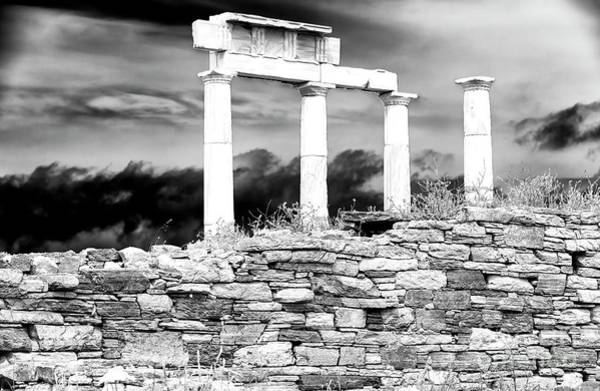 Photograph - Ancient Columns On The Island Of Delos by John Rizzuto
