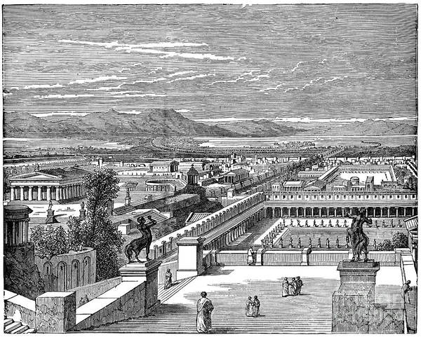 Drawing - Ancient Corinth, C1894 - To License For Professional Use Visit Granger.com by Granger