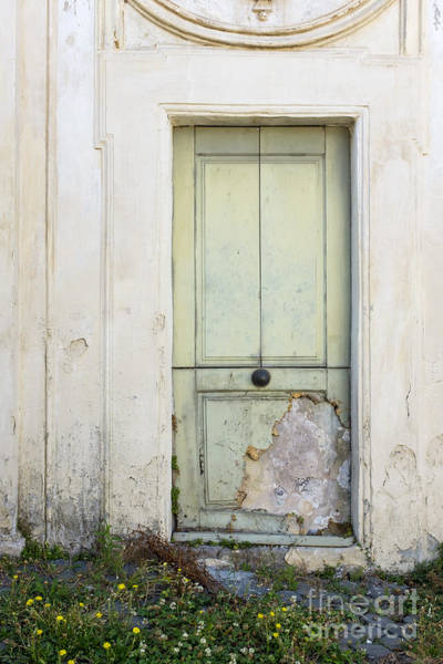 Stucco Photograph - Ancient Door Rome Italy by Edward Fielding