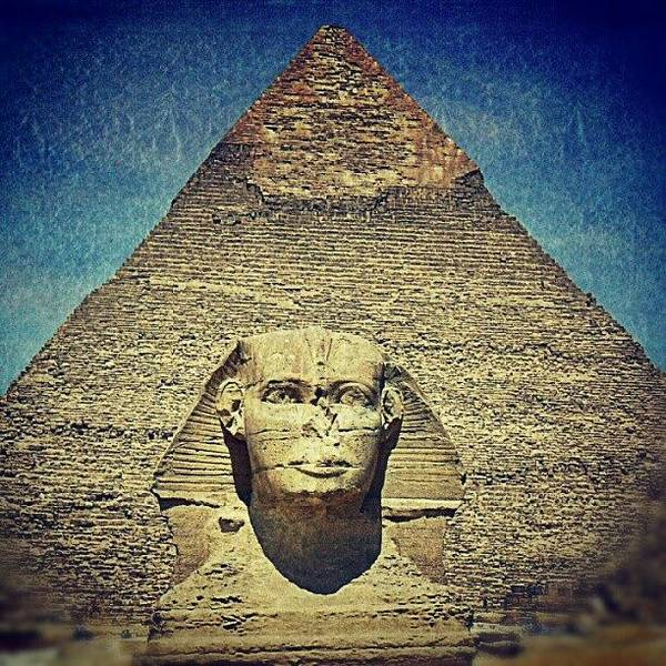 Ancient Photograph - Ancient Egypt. Sphynx. #ancient #egypt by Sergey Max Sinev