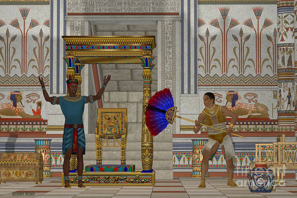 Kingship Wall Art - Painting - Ancient Egyptian Men by Corey Ford