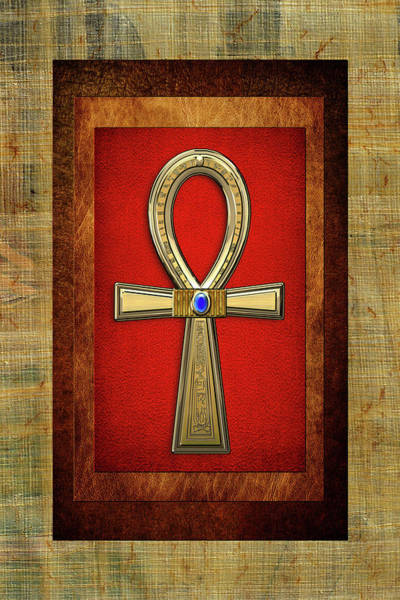 Amulet Digital Art - Ancient Egyptian Sacred Cross Ankh - The Key Of Life by Serge Averbukh