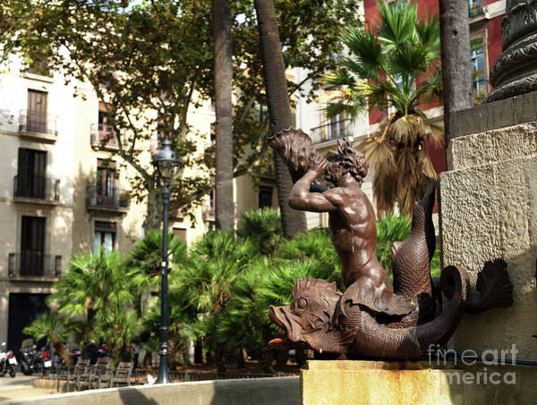 Photograph - Ancient Fountain In Barcelona by John Rizzuto