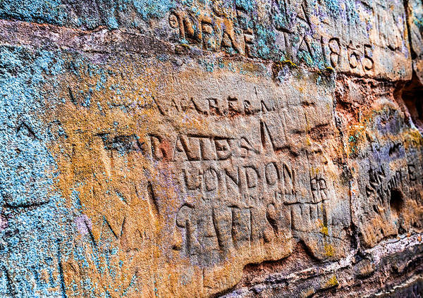 Photograph - Ancient Graffiti by Nick Bywater