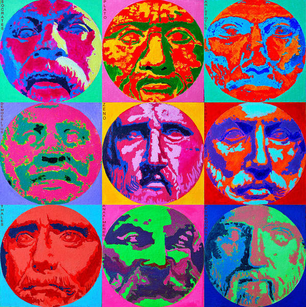 Painting - Ancient Greek Philosophers by Ana Maria Edulescu