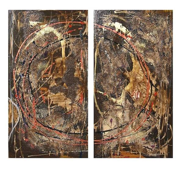 Wall Art - Painting - Ancient Hue I And II by Jennifer Rae Ochs